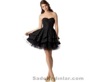 straplez mini abiye elbise